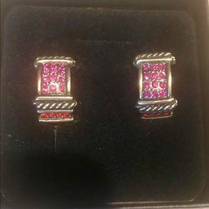 Heidi Daus Pink Clip earrings